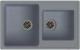 Мойка кухонная Ewigstein Elegant 80D (серый металлик) -