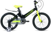 Детский велосипед Forward Cosmo 18 2.0 2021 / 1BKW1K7D1023 (черный/зеленый) -