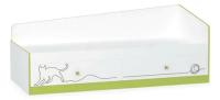 Кровать-тахта Mobi Альфа 11.21 (лайм зеленый/белый премиум) -