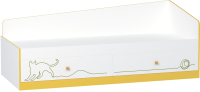 Кровать-тахта Mobi Альфа 11.21 (солнечный свет/белый премиум) -