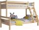 Двухъярусная кровать Мебельград Адель (прозрачный лак) -