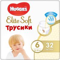 Подгузники-трусики детские Huggies Elite Soft 6 Mega (32шт) -