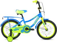 Детский велосипед Forward Funky 16 2021 / 1BKW1K1C1033 (голубой/ярко-зеленый) -