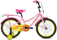 Детский велосипед Forward Funky 18 2021 / 1BKW1K1D1023 (коралловый/фиолетовый) -