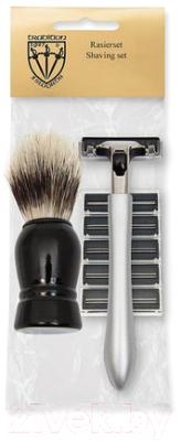 Набор для бритья Three Swords PL 6808 Помазок+станок+запасные лезвия помазок для бритья kurt к 10006