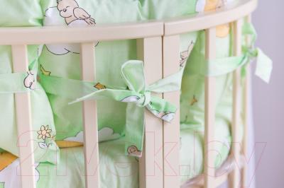 Комплект постельный в кроватку Баю-Бай Нежность / К91-Н3 (зеленый)