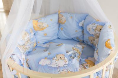 Комплект постельный в кроватку Баю-Бай Нежность / К91-Н4 (голубой)