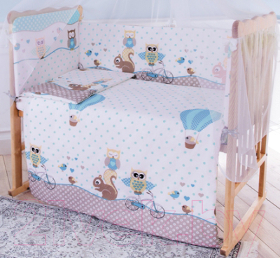 Комплект постельный в кроватку Баю-Бай Раздолье / К60-Р4 баю бай