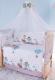 Комплект постельный в кроватку Баю-Бай Раздолье / К120-Р4 (голубой) -