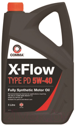 Моторное масло Comma X-Flow Type PD 5W40 / XFPD5L (5л)