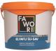 Гидроизоляционная мастика Fawori Fibrous Aquablock с фиброволокном (3кг) -