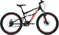 Велосипед Forward Raptor 24 2.0 Disc 2021 / RBKW1F146002 (15, черный/красный) -