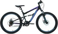 Велосипед Forward Raptor 24 2.0 Disc 2021 / RBKW1F146004 (15, черный/фиолетовый) -