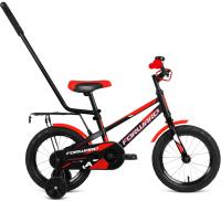 Детский велосипед с ручкой Forward Meteor 14 2021 / 1BKW1K1B1009 -
