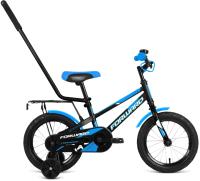 Детский велосипед с ручкой Forward Meteor 14 2021 / 1BKW1K1B1008 -