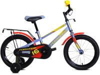 Детский велосипед Forward Meteor 16 2021 / 1BKW1K1C1040 (серый/желтый) -