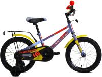 Детский велосипед Forward Meteor 16 2021 / 1BKW1K1C1039 (серый/красный) -