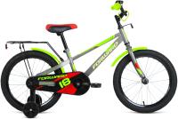Детский велосипед Forward Meteor 18 2021 / 1BKW1K7D1013 (серый/зеленый) -