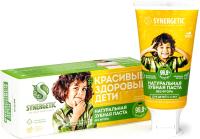 Зубная паста Synergetic Клубничка и банан от 3 до 6 лет желтая (50г) -
