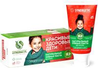 Зубная паста Synergetic Клубничка и банан от 3 до 6 лет красная (50г) -