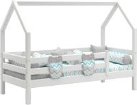 Стилизованная кровать детская Мебельград Соня с надстройкой (белый полупрозрачный) -