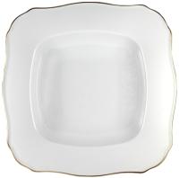 Тарелка столовая глубокая Cmielow i Chodziez Romantika / B014-0R11490 (золотая линия) -