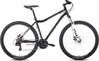 Велосипед Forward Sporting 29 2.2 Disc 2021 / RBKW1M19G012 (17, черный/белый) -