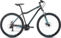 Велосипед Forward Sporting 29 2.2 Disc 2021 / RBKW1M19G011 (17, черный/бирюзовый) -