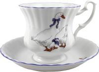 Чашка с блюдцем Cmielow i Chodziez Iwona / E280-8202I02 (гусь) -