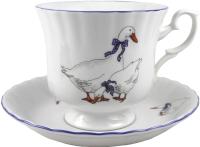 Чашка с блюдцем Cmielow i Chodziez Iwona / E280-8202I06 (гусь) -