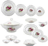 Набор столовой посуды Cmielow i Chodziez Maria Tereza / G255-2046M30 (46пр, роза садовая) -