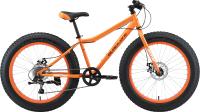 Велосипед Black One Monster 24 D 2021 (оранжевый/серый) -