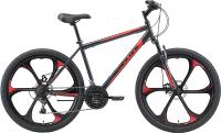Велосипед Black One Onix 26 D FW 2021 (16, серый/черный/красный) -