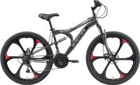 Велосипед Black One Totem FS 26 D FW 2021 (16, серый/черный/серый) -