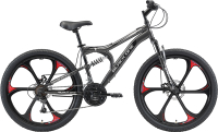 Велосипед Black One Totem FS 26 D FW 2021 (20, серый/черный/серый) -