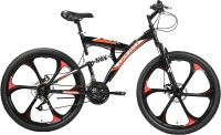Велосипед Bravo Rock 26 D FW 2021 (16, черный/красный/белый) -