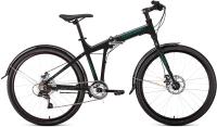 Велосипед Forward Tracer 26 2.0 Disc 2021 / 1BKW1C467002 (черный/бирюзовый) -