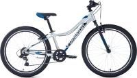 Велосипед Forward Twister 24 1.2 2021 / RBKW1J347024 (12, серебристый/синий) -