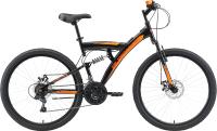 Велосипед Black One Flash FS 26 D 2021 (18, черный/оранжевый) -