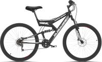 Велосипед Black One Hooligan FS 26 D 2021 (16, черный/серый) -