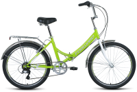 Велосипед Forward Valencia 24 2.0 2021 / RBKW1C246001 (16, зеленый/серый) -