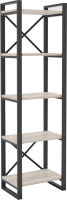 Стеллаж Hype Mebel Стандарт 50x170 (черный/древесина белая) -