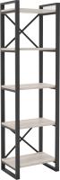Стеллаж Hype Mebel Стандарт 80x170 (черный/древесина белая) -