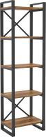 Стеллаж Hype Mebel Стандарт 50x200 (черный/дуб галифакс олово) -