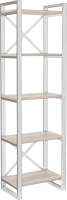 Стеллаж Hype Mebel Стандарт 50x200 (белый/древесина белая) -