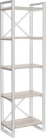 Стеллаж Hype Mebel Стандарт 80x200 (белый/древесина белая) -