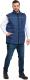 Жилет рабочий Мерион Спецодежда Класс Утепленный Дюспо (р-р 52-54 / 182-188, темно-синий) -