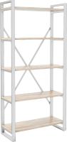 Стеллаж Hype Mebel Стандарт-2 80x200 (белый/древесина белая) -
