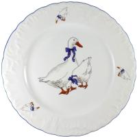 Тарелка столовая мелкая Cmielow i Chodziez Rococo / E280-0031190 (гусь) -