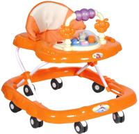 Ходунки Alis Маленькие друзья 8 с силиконовыми колесами (оранжевый) -